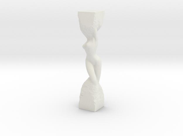 Woman in Stone in White Natural Versatile Plastic