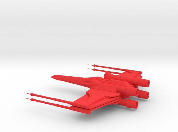 X-Wing in Red Processed Versatile Plastic