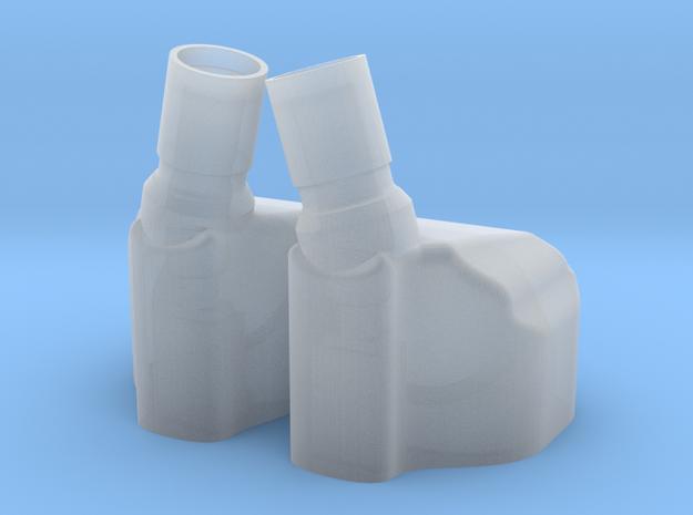 Earphone Shells OP2 (w/ holes) in Smooth Fine Detail Plastic