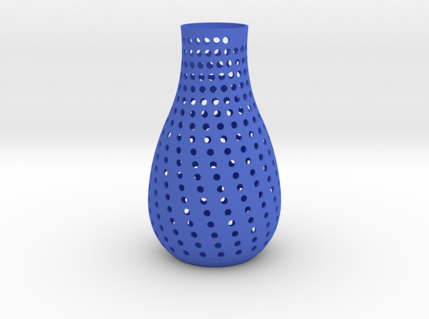 vase  in Blue Strong & Flexible Polished
