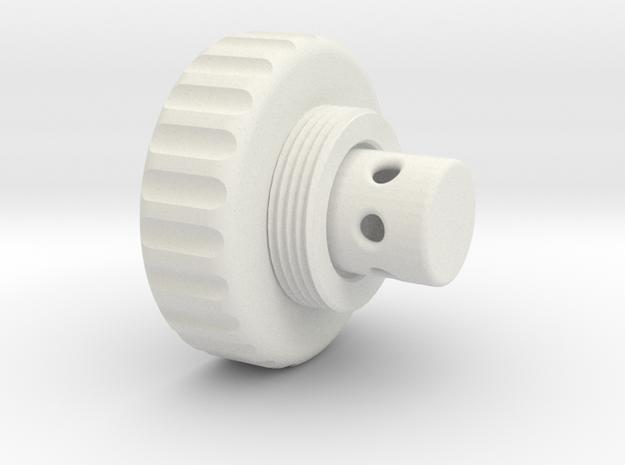 Braukmann-Adapter_40x1-5 in White Natural Versatile Plastic