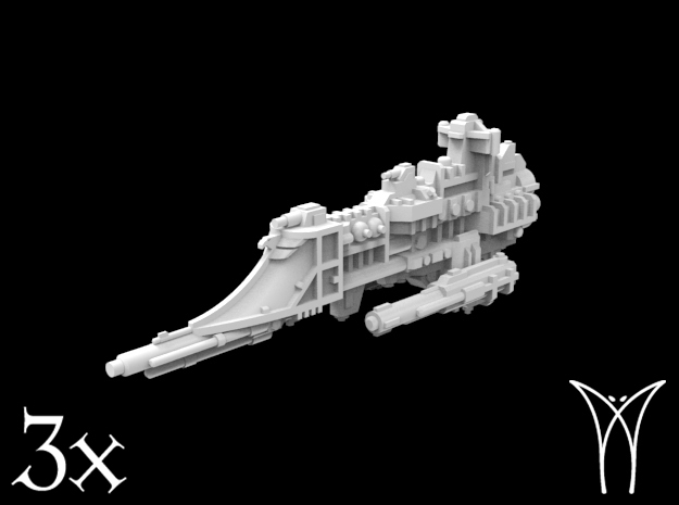 3 Lancer class Frigates in Smooth Fine Detail Plastic