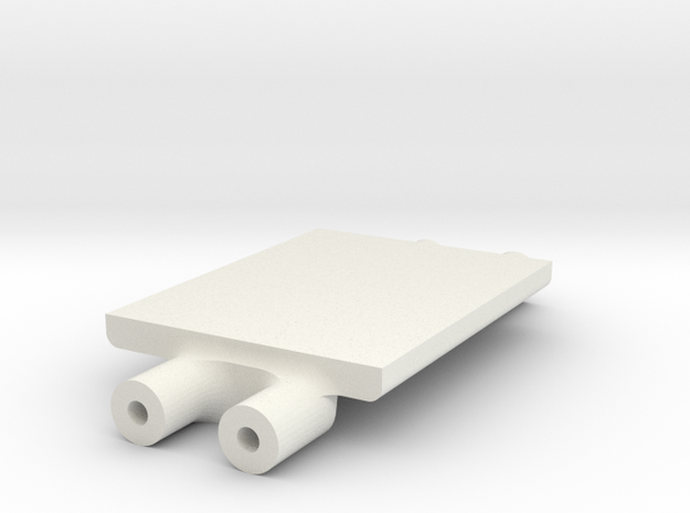 LCG Winch Contoller Mount in White Strong & Flexible