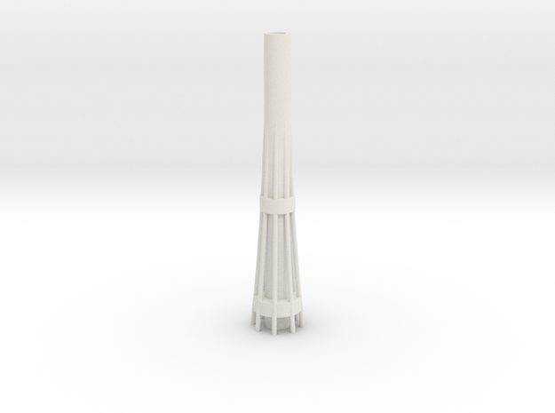 Auckland SkyTower 1:500 Base Section in White Strong & Flexible