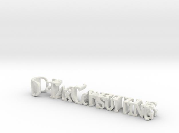 3dWordFlip: D-Tax Consulting/Comptabilité in White Natural Versatile Plastic