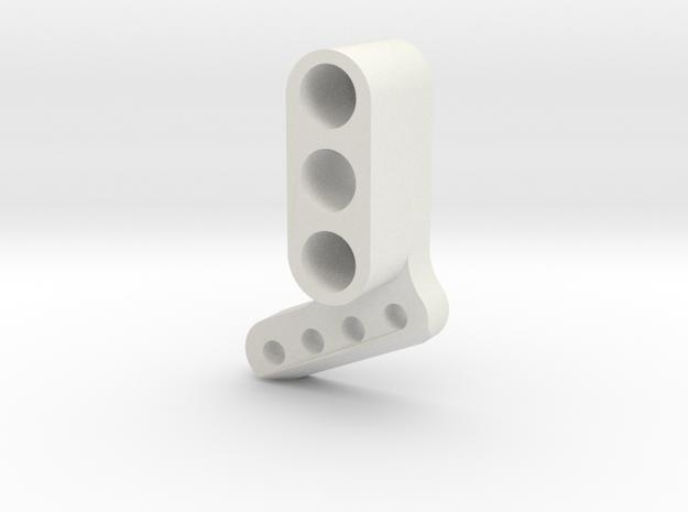 TC4 Camber Link Mount FL RR in White Natural Versatile Plastic