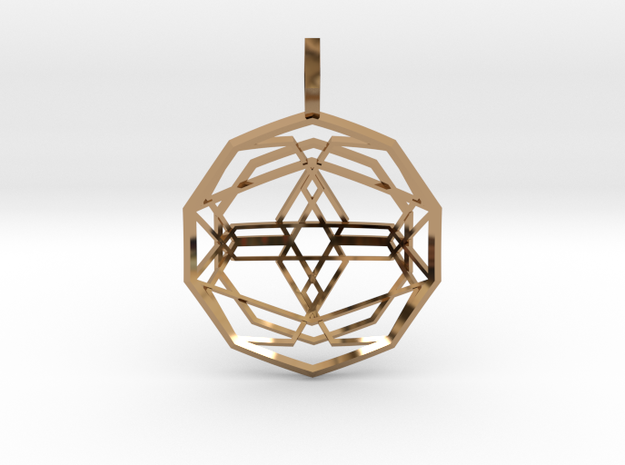 Source Sphere (Domed) in Polished Brass