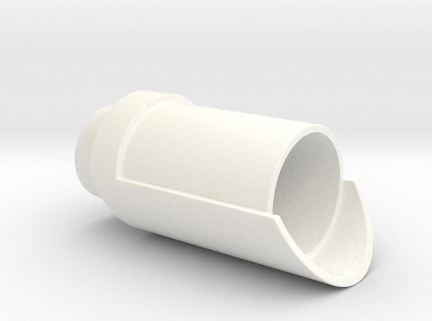 KRCNC2 Exhaust ports in White Processed Versatile Plastic