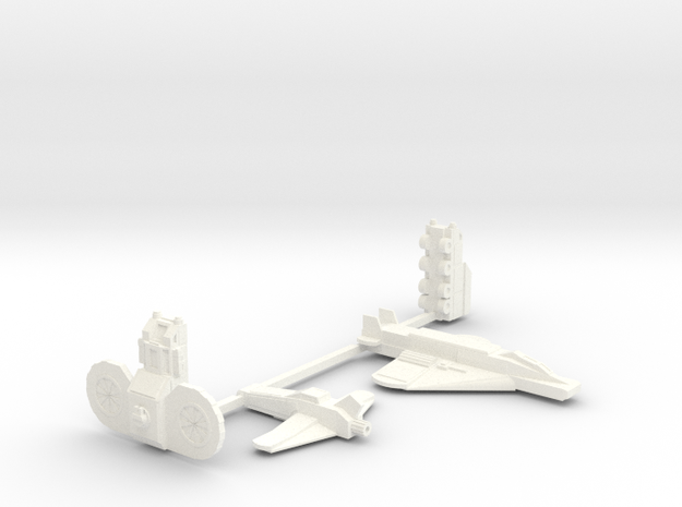 Colony Castings Combined Set 1 in White Strong & Flexible Polished