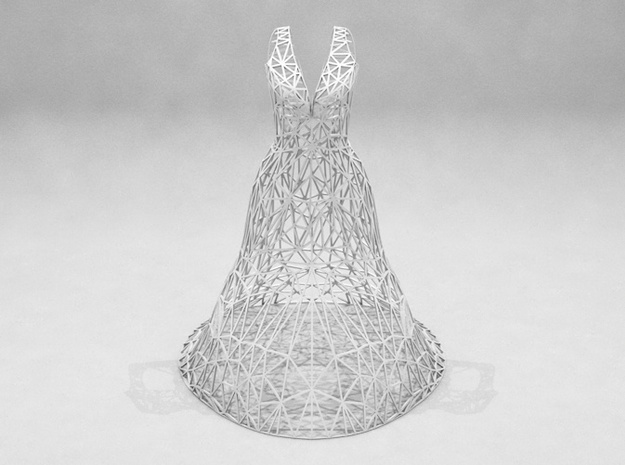 Jewelry Wire Dress Display (15 cm) 3d printed