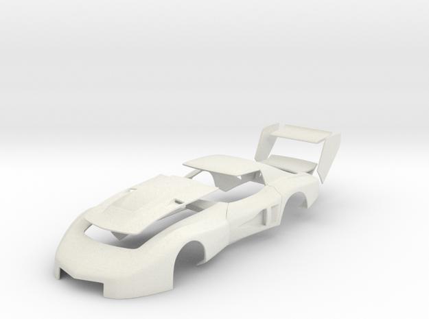 John Greenwood 1977 IMSA GTO Corvette (Body) in White Strong & Flexible: 1:25