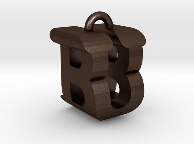 3D-Initial-BU in Matte Bronze Steel