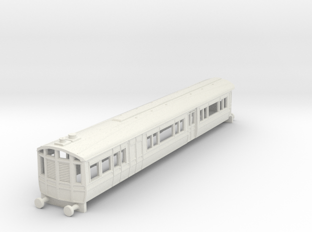 o-148-lnwr-steam-railmotor-v2 in White Natural Versatile Plastic