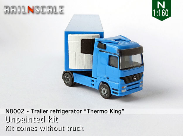 "Trailer refrigerator ""Thermo King"" (N 1:160) in Smooth Fine Detail Plastic"