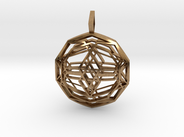 Source Sphere (Double Domed) in Natural Brass