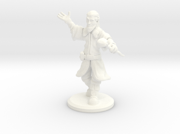 D&D Mini - Zendrin The Sorcerer/Wizard in White Strong & Flexible Polished