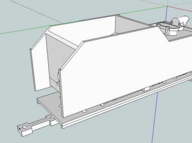 C4 Tender Body 003 HOe 3d printed Front view of tender.