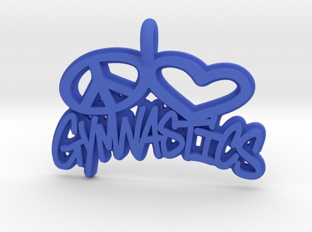 35-PL-GYMNASTICS  in Blue Processed Versatile Plastic: Small