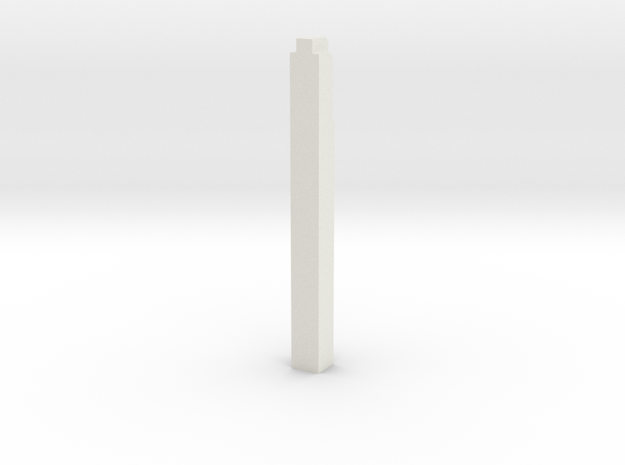 Triple Underpass West Wing Wall Pillar in White Strong & Flexible