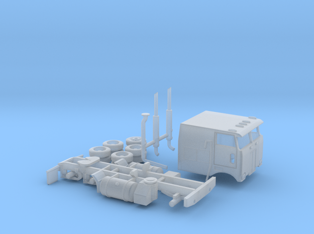 1/120 1976 Peterbilt 352 Cabover in Smooth Fine Detail Plastic