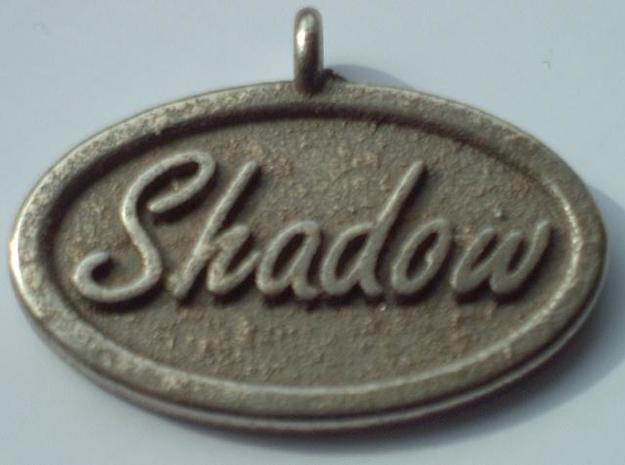 Oval Pet Tag / Pendant in Polished Bronzed Silver Steel