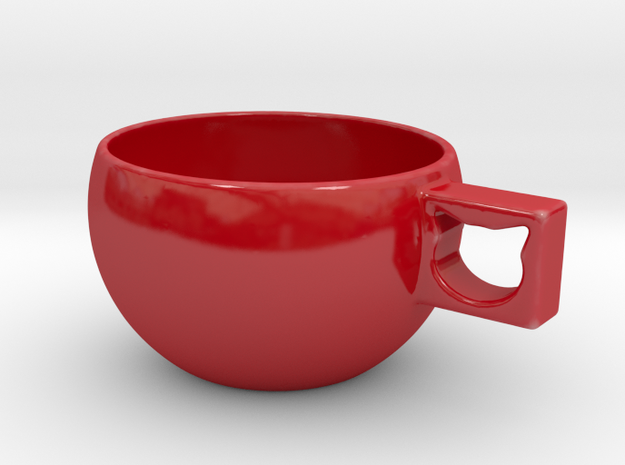 CatCup in Gloss Red Porcelain: Medium