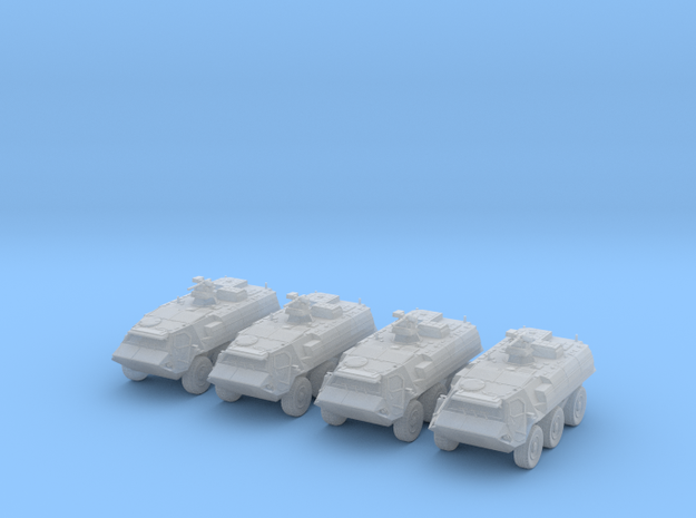 Fuchs A8 (4 vehicles) 1:160 scale in Smooth Fine Detail Plastic