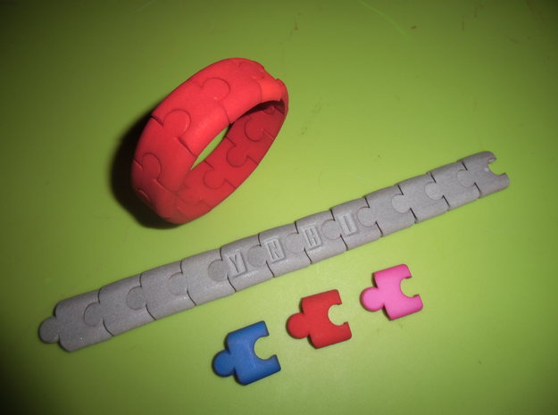PuzzlelinkletterQ 3d printed