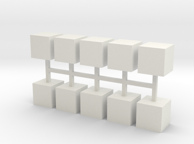 Parkhecke Buchsbaum Würfel 10er Set - 1:120 in White Natural Versatile Plastic