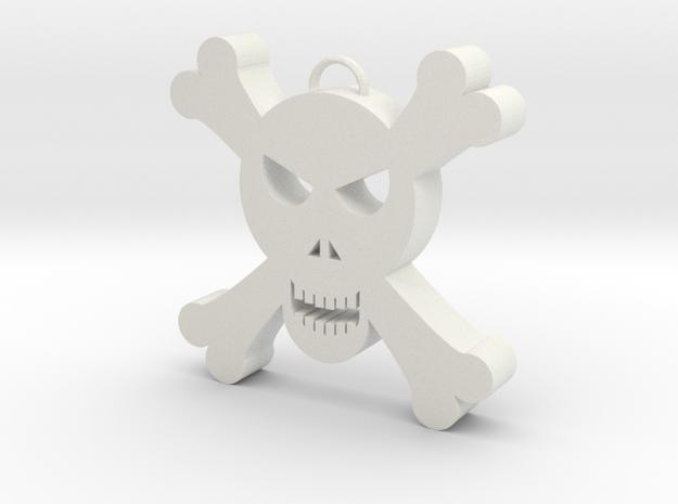 Skull Decoration in White Strong & Flexible