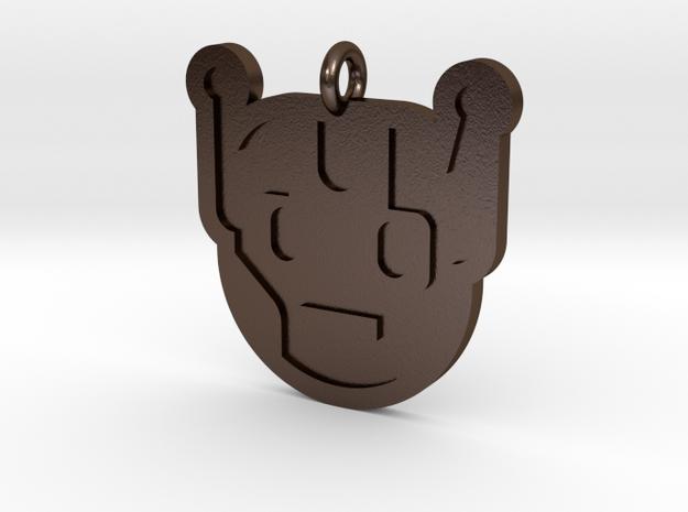 Killbot Pendant in Polished Bronze Steel