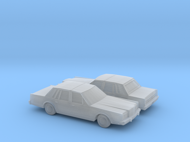 1/160 2X 1983 Lincoln Town Car in Smooth Fine Detail Plastic