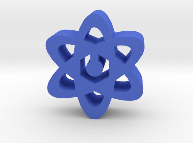 Game Piece, Atoms in Blue Processed Versatile Plastic