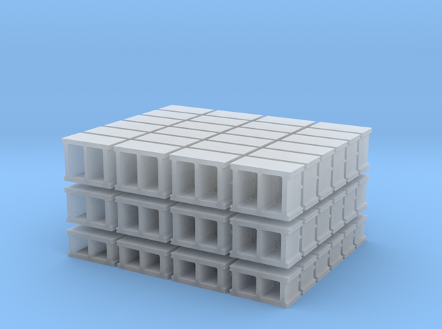 1-72_cinderblock set in Frosted Ultra Detail
