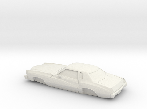 1/32 1973-75 Chevrolet Monte Carlo in White Strong & Flexible