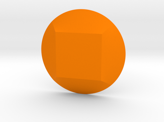 Square Gem in Orange Processed Versatile Plastic