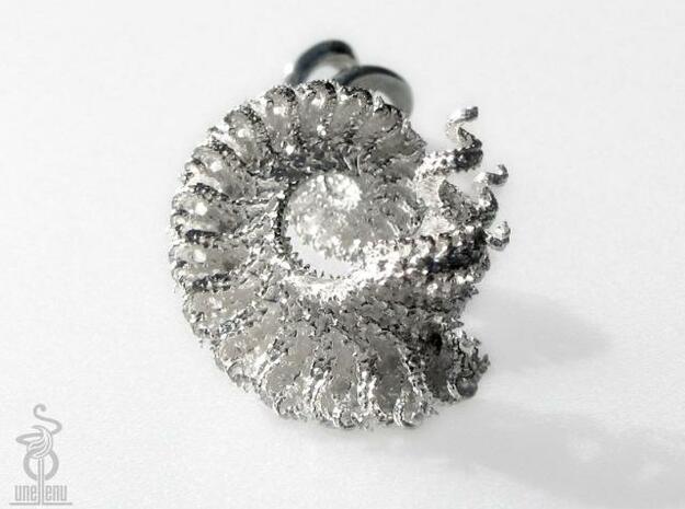 3D fractal pendant, 'Spiralling Spirals' large 3d printed
