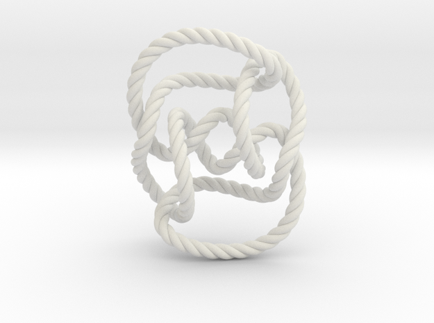 Knot 10₁₄₄ (Rope) in White Natural Versatile Plastic: Extra Small