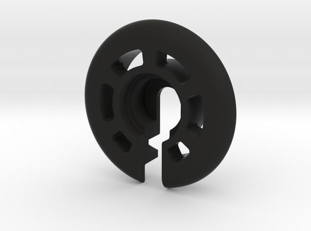 Traxxas GTR shock lower spring perch, -3mm offset in Black Natural Versatile Plastic