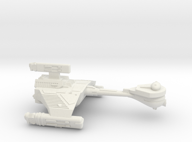 3125 Scale Klingon HF5 K-Refit Heavy War Destroyer in White Natural Versatile Plastic