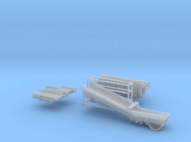 Spudnik 6640 Boom wheels & cylinders in Smooth Fine Detail Plastic
