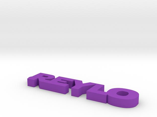 Reylo Keychain in Purple Strong & Flexible Polished