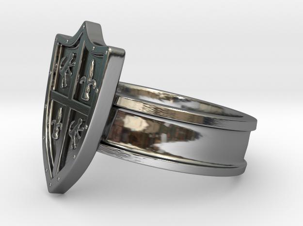 Shield Ring, Medieval in Premium Silver: 8 / 56.75