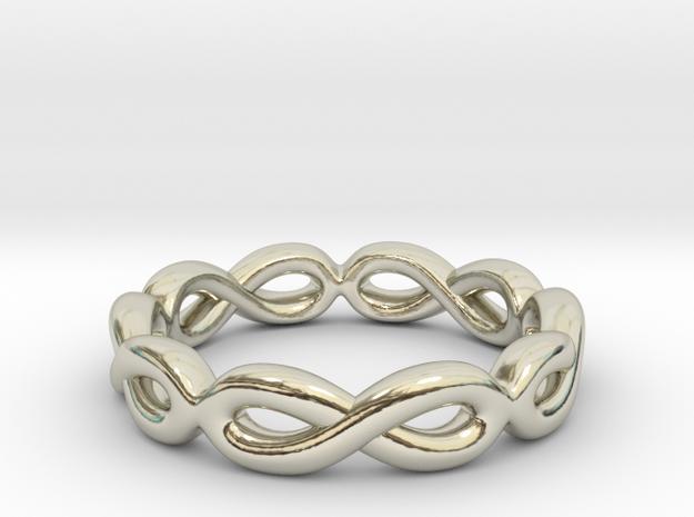 Infinity Ring: Eternal in 14k White Gold: 7 / 54