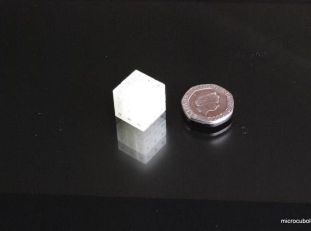 Three Tiny Pieces 3d printed Cube solved