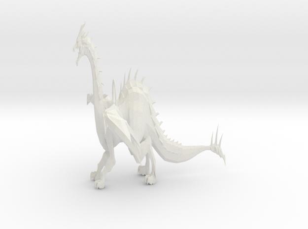 Dragon Keychain in White Natural Versatile Plastic