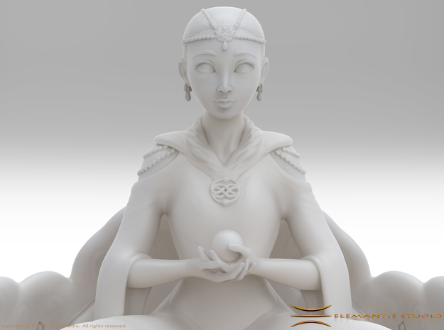 The Childlike Empress Statuette 7cm in White Natural Versatile Plastic