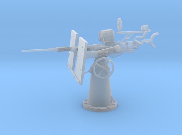 1/30 USN 20mm Single Oerlikon Mk4 shielded in Frosted Ultra Detail