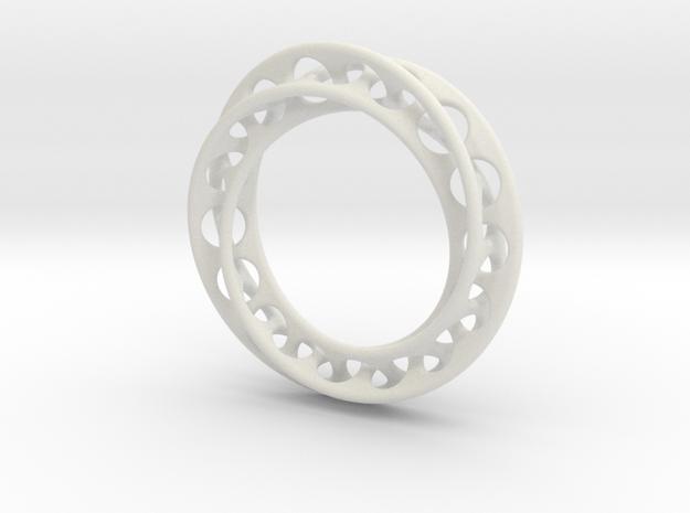 Möbius chain bracelet in White Natural Versatile Plastic