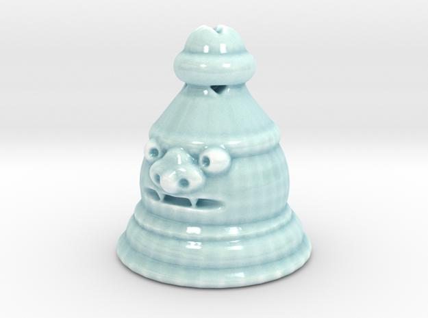 Shisa Pawn in Gloss Celadon Green Porcelain